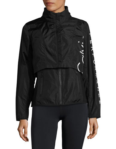 Calvin Klein Performance Two-Piece Logo Jacket-BLACK-X-Large