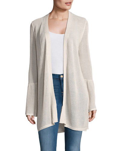 Calvin Klein Bell-Sleeve Knit Duster Cardigan-NATURAL-X-Small