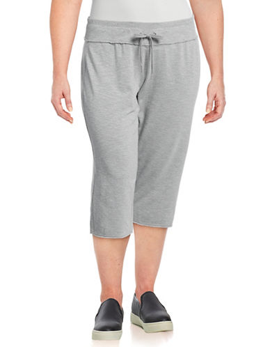 Calvin Klein Performance Plus Everyday Crop Sweatpants-SILVER-3X 89208449_SILVER_3X