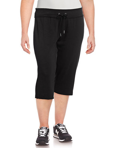 Calvin Klein Performance Plus Everyday Crop Sweatpants-BLACK-1X 89208444_BLACK_1X