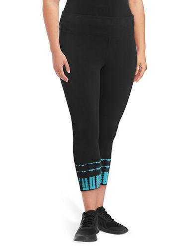 Calvin Klein Performance Plus Tie-Dye Cuff Crop Leggings-BLUE-1X 89208453_BLUE_1X