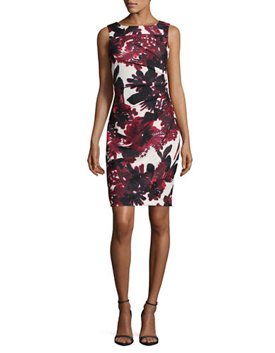 Calvin Klein Floral Starburst Sheath Dress-FIRE MULTI-10