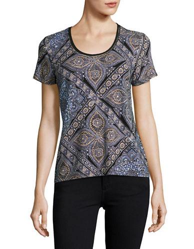 Tommy Hilfiger Core Tee Henna Paisley T-Shirt-PURPLE-Small
