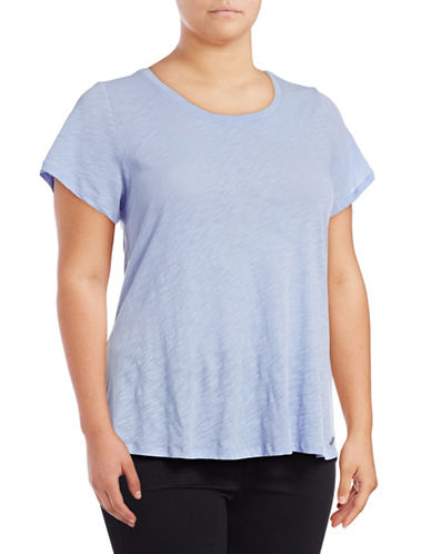 Calvin Klein Performance Plus Crisscross Back T-Shirt-BEACH BLUE-2X