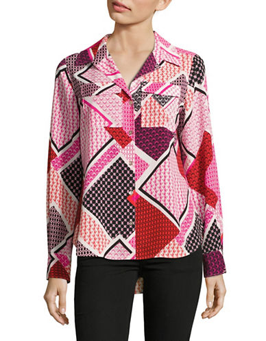 Tommy Hilfiger Printed Long Sleeve Blouse-MULTI-Small