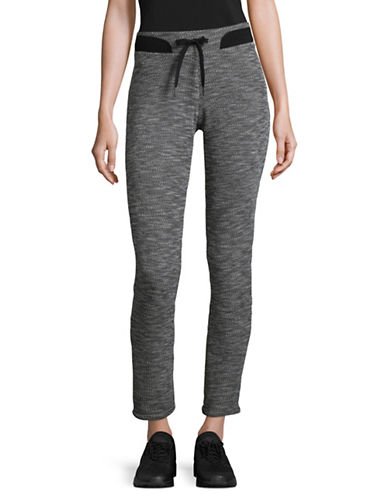Calvin Klein Performance Cuffed Sweatpants-BLACK HEATHER-Medium