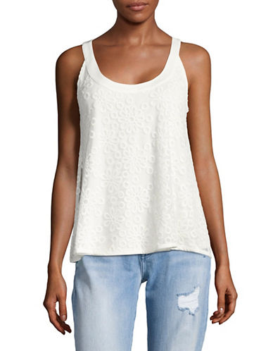 Tommy Hilfiger Embroidered Mesh Tank-WHITE-X-Small 89226905_WHITE_X-Small
