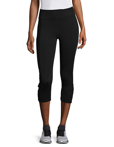 Calvin Klein Performance High Waist Mesh Panel Capris-BLACK-Small 89280185_BLACK_Small