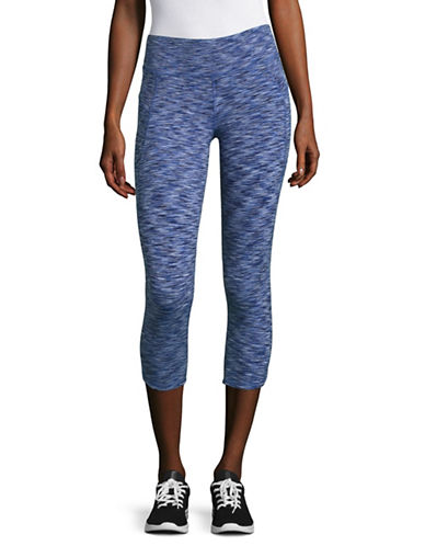 Calvin Klein Performance Spacedye Cropped Leggings-SAPPHIRE COMBO-X-Large