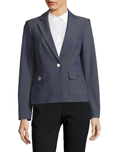 Calvin Klein Stretch Twill Blazer with Grommet Detail-INDIGO-8