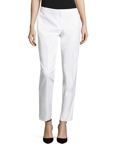 Calvin Klein Cotton Highline Pants-WHITE-4