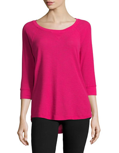 Calvin Klein Performance Raglan-Sleeved Knit Top-PINK-X-Small