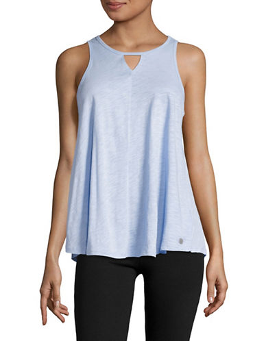 Calvin Klein Performance Keyhole Swing Tank Top-BEACH BLUE-Small 89280251_BEACH BLUE_Small