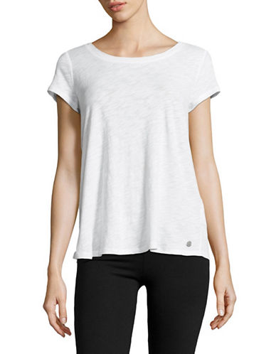 Calvin Klein Performance Crisscross Back T-Shirt-SUGAR-Medium