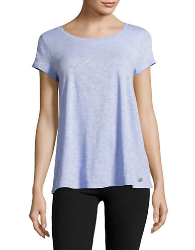 Calvin Klein Performance Crisscross Back T-Shirt-BEACH BLUE-Large