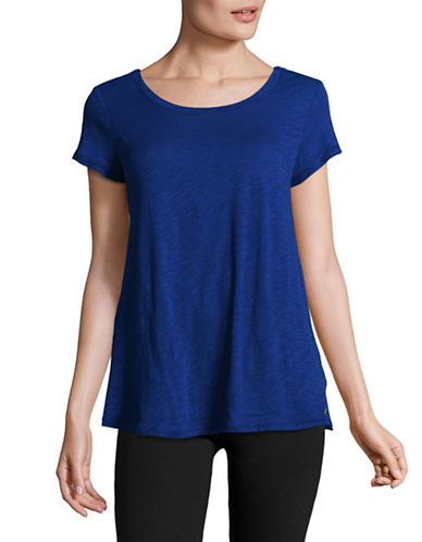 Calvin Klein Performance Crisscross Back T-Shirt-SAPPHIRE-X-Small
