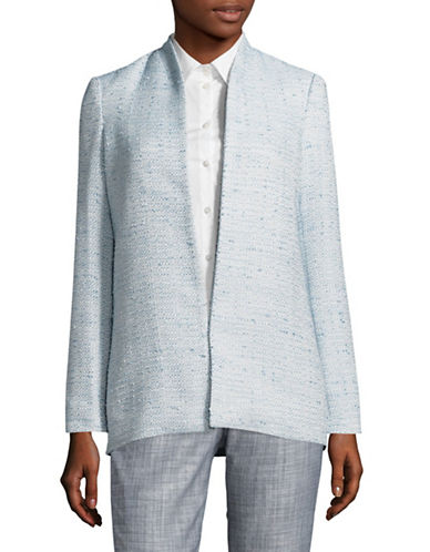 Calvin Klein Open Tweed Jacket-LIGHT BLUE-6