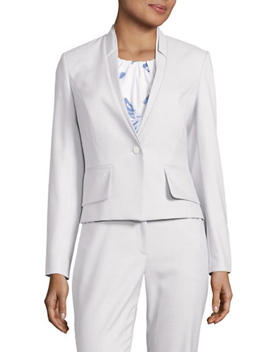 Calvin Klein Short Birdseye Suit Jacket-LIGHT BLUE-8