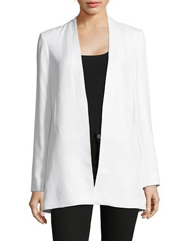 Calvin Klein Collarless Longline Blazer-WHITE-10