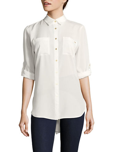 Calvin Klein Button Down Shirt-WHITE-X-Large
