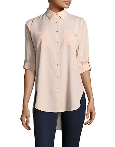 Calvin Klein Button Down Shirt-PINK-Large