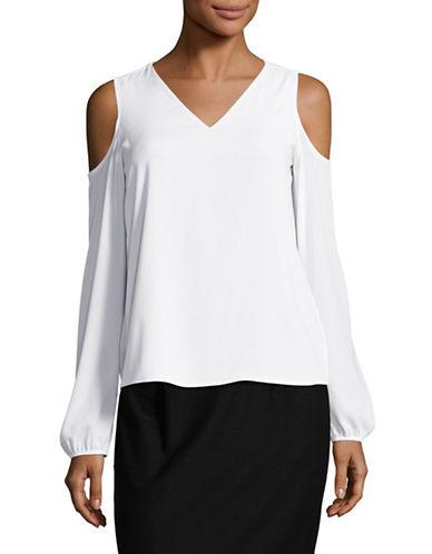 Calvin Klein Cold Shoulder Top-WHITE-Large