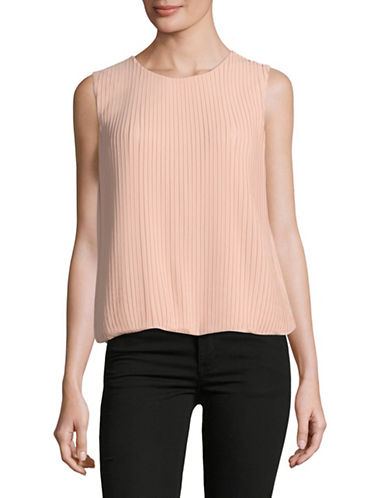 Calvin Klein Pleated Shell Top-BLUSH-Medium
