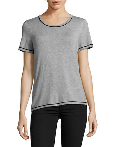 Calvin Klein Piped Sweater Tee-GREY-X-Large
