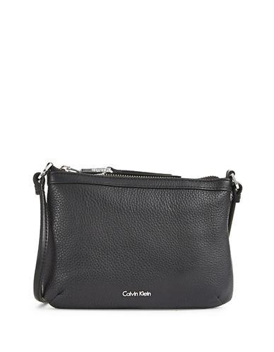 Calvin Klein Pebble Crossbody Bag-BLACK-One Size
