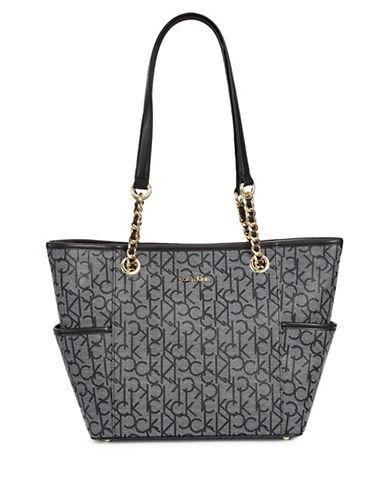 Calvin Klein Key Items Logo Tote-WHITE/BLACK-One Size 89160130_WHITE/BLACK_One Size