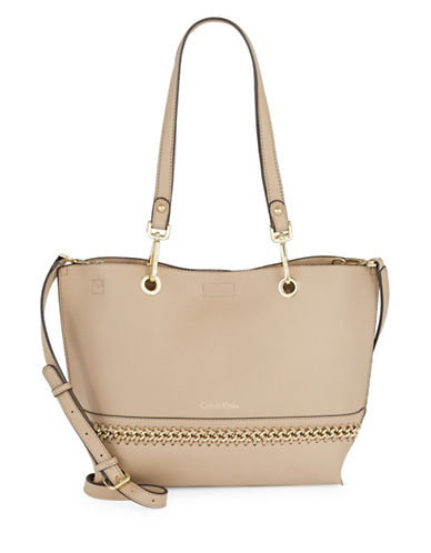Calvin Klein Sonoma Reversible Tote Bag-NATURAL-One Size