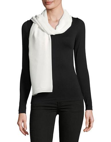 Calvin Klein Solid Chiffon Scarvest-WHITE-One Size
