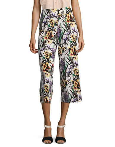 Tommy Hilfiger Floral Scroll Crop Pants-YELLOW MULTI-10