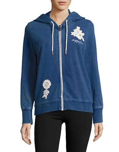 Tommy Hilfiger Floral Applique Hoodie-BLUE-Small 89177689_BLUE_Small