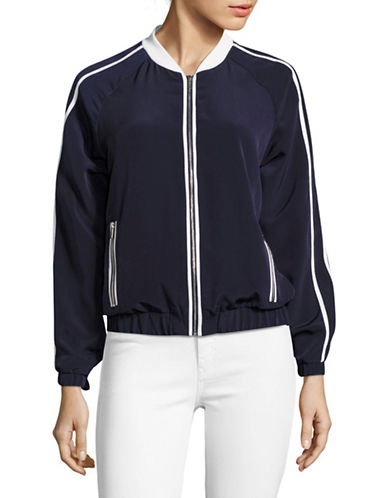 Calvin Klein Striped Sleeve Bomber Jacket-BLUE-X-Small 89211812_BLUE_X-Small