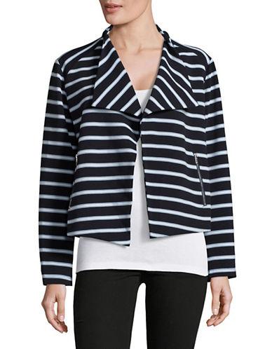 Calvin Klein Flyaway Striped Jacket-BLUE-Medium