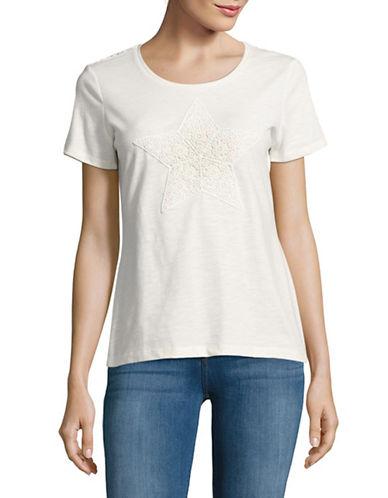 Tommy Hilfiger Lace Back T-Shirt-BEIGE-X-Large