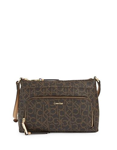 Calvin Klein Monogram Crossbody Bag-BROWN/KHAKI-One Size