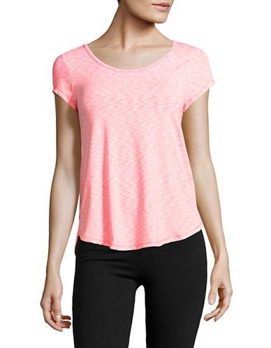 Calvin Klein Performance Lattice Back T-Shirt-NEON CALYPSO COMBO-X-Large 89184982_NEON CALYPSO COMBO_X-Large