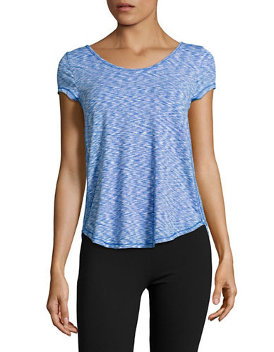 Calvin Klein Performance Lattice Back T-Shirt-LAGOON COMBO-Large