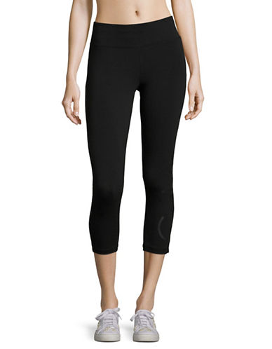 Calvin Klein Performance Cotton Stretch Leggings-BLACK LOGO-Small
