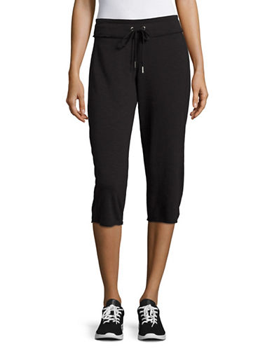 Calvin Klein Performance Cotton Cropped Sweatpants-BLACK-Small