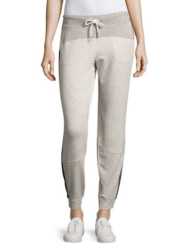 Calvin Klein Performance Colourblocked Sweatpants-OPTIC HEATHER-Large 89093775_OPTIC HEATHER_Large