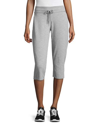 Calvin Klein Performance Cotton Cropped Sweatpants-PEARL HEATHER GREY-Large