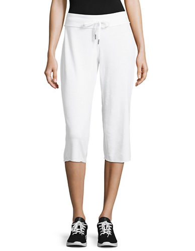 Calvin Klein Performance Cotton Cropped Sweatpants-WHITE-Large 89184902_WHITE_Large