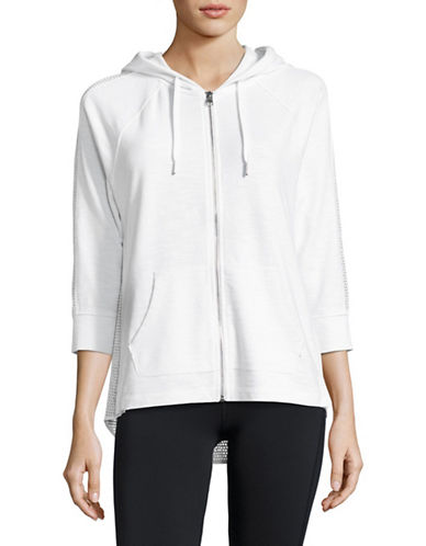 Calvin Klein Performance Mesh-Combo Full-Zip Hoodie-WHITE-Medium 89184870_WHITE_Medium
