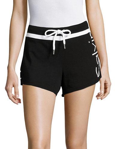 Calvin Klein Performance French Terry Logo Shorts-BLACK-X-Large 89184928_BLACK_X-Large