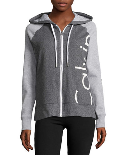 Calvin Klein Performance Funnel Neck Wrap Logo Sweatshirt-BLACK HEATHER-Large 89151123_BLACK HEATHER_Large