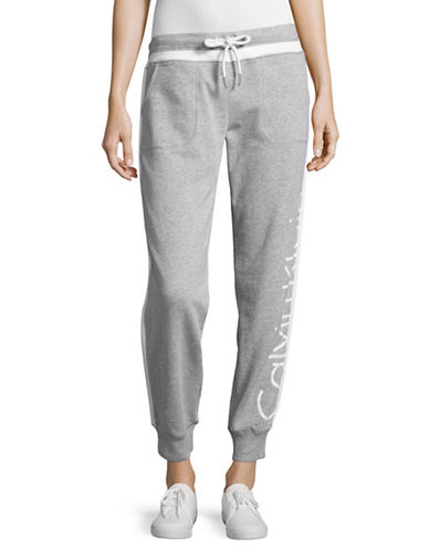 Calvin Klein Performance French Terry Logo Sweatpants-PEARL HEATHER GREY-Small 89093796_PEARL HEATHER GREY_Small