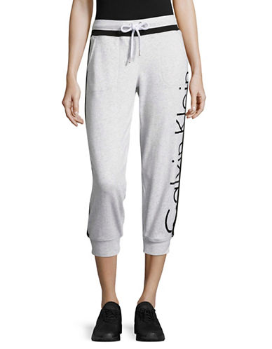 Calvin Klein Performance French Terry Logo Sweatpants-OPTIC HEATHER-X-Large 89093792_OPTIC HEATHER_X-Large